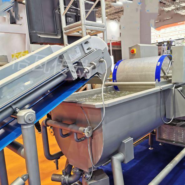 大型蔬菜清洗生产线设备电动滚筒应用